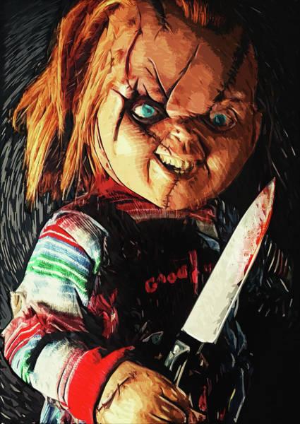 Chucky Wall Art - Digital Art - Chucky by Zapista Zapista