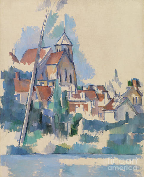 Wall Art - Painting - Church At Montigny Sur Loing, 1898  by Paul Cezanne