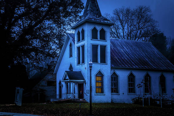 Photograph - Church At Night by James L Bartlett