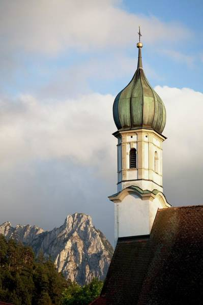 Bell Tower Photograph - Church Bell Tower With A Mountain Peak by Design Pics / Michael Interisano