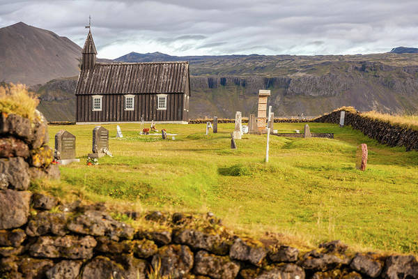Photograph - Church Cemetery Of Iceland by David Letts