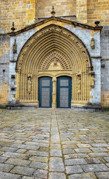 Photograph - Church Doors In Guernica by Tom Singleton
