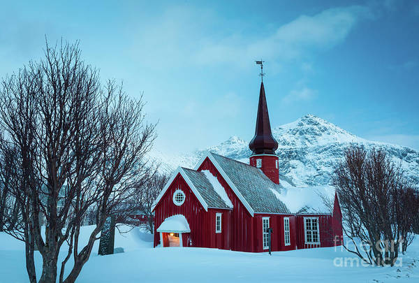 Wall Art - Photograph - Church In Flakstad by Inge Johnsson
