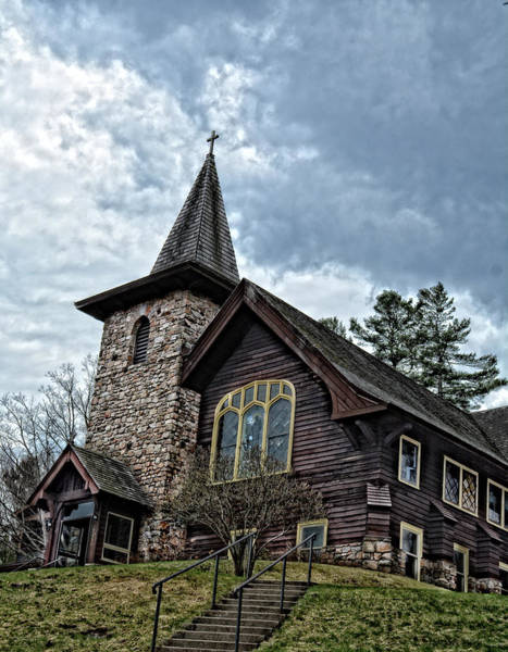 Photograph - Church In Lake Placid by Maggy Marsh