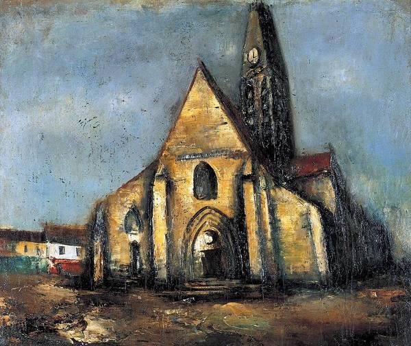 Wall Art - Painting - Church In Paris by Saeki Yuzo