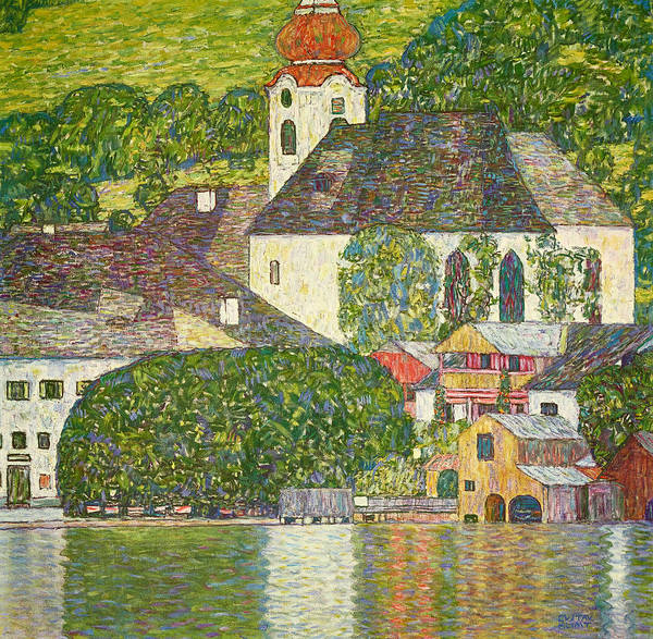 Wall Art - Painting - Church In Unterach By Lake Attersee, 1916 by Gustav Klimt