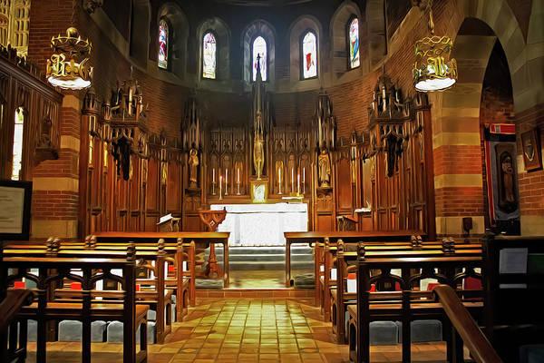 Photograph - Church Interior Boston Series 5255 by Carlos Diaz