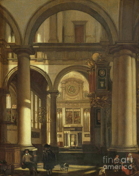 Wall Art - Painting - Church Interior by Emanuel de Wint