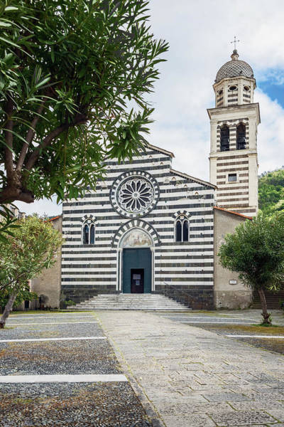 Photograph - Church Of Saint Andrew Exterior Levanto Cinque Terre by Joan Carroll