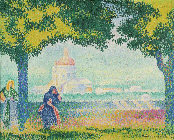 Assisi Painting - Church Of Santa Maria Near Assisi, 1909 by Henri Edmond Cross