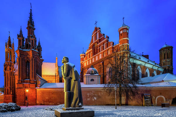 Photograph - Church Of St Anne - Vilnius, Lithuania by Nico Trinkhaus