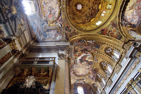 Oculus Wall Art - Photograph - Church Of The Gesu, Rome, Interior With by Terence Chang