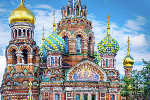 Petersburg Photograph - Church Of The Savior On Spilled Blood by Delphimages Photo Creations