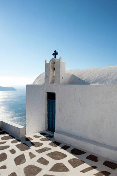 Religion Photograph - Church Of Worship In Santorini, Greece by Projectb