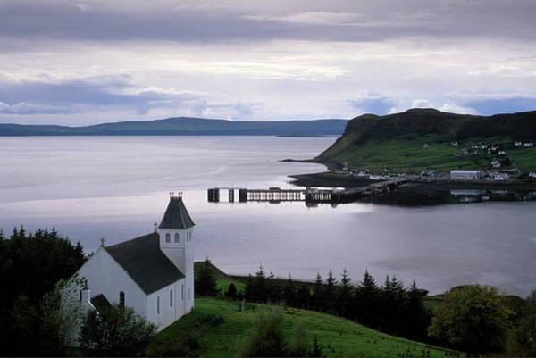 Church Of Scotland Wall Art - Photograph - Church Overlooking Uig Bay And Port by Patrick Dieudonne / Robertharding