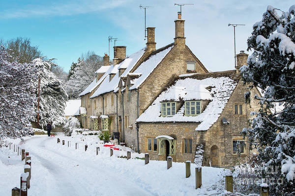 Wall Art - Photograph - Church Row Cottages In Chedworth In Winter by Tim Gainey