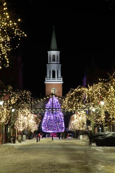 Photograph -  Church Street In Burlington Vermont by Jeff Folger