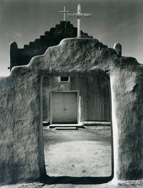Photograph - Church, Taos Pueblo, New Mexico, 1942 by Archive Photos