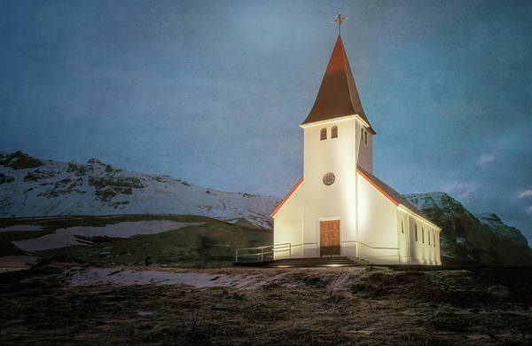 Photograph - Vik Church Iceland by Joan Carroll