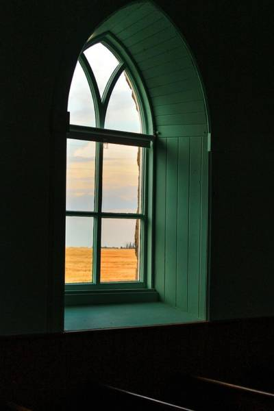 Photograph - Church Window by David Matthews