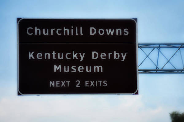 Wall Art - Photograph - Churchill Downs Kentucky Derby Signage by Thomas Woolworth
