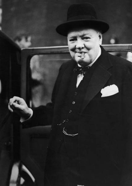 Hat Photograph - Churchill Resigns by Keystone