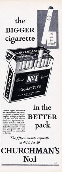 Wall Art - Photograph - Churchmans No. 1 Cigarettes by Picture Post