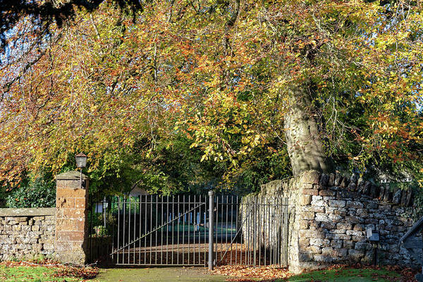 Photograph - Churchyard Gates by Mark Hunter