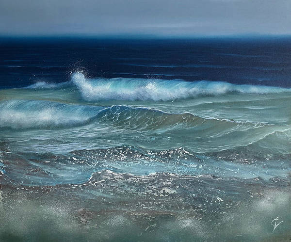 Painting - Churning Waters by Eva Volf