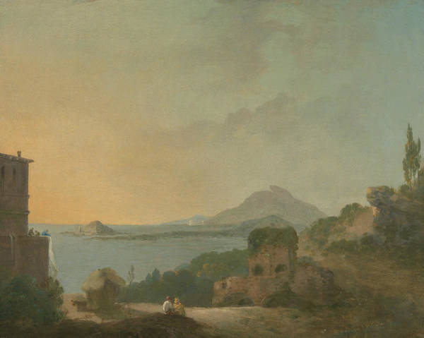 Painting - Cicero's Villa And The Gulf Of Pozzuoli by Richard Wilson