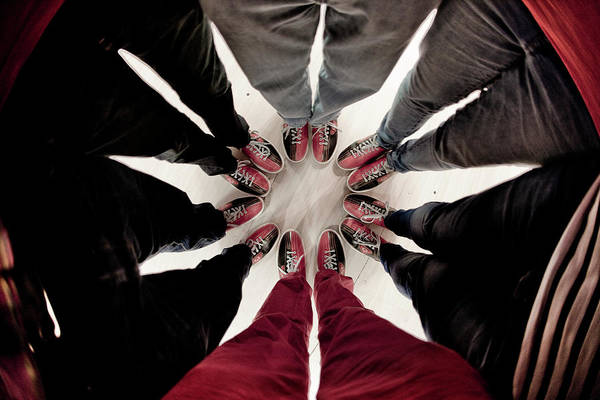 Ten Pin Bowling Wall Art - Photograph - Cicle Of People Wearing Bowling Shoes by Dominick Reed (a.k.a. Mr. Flibble)
