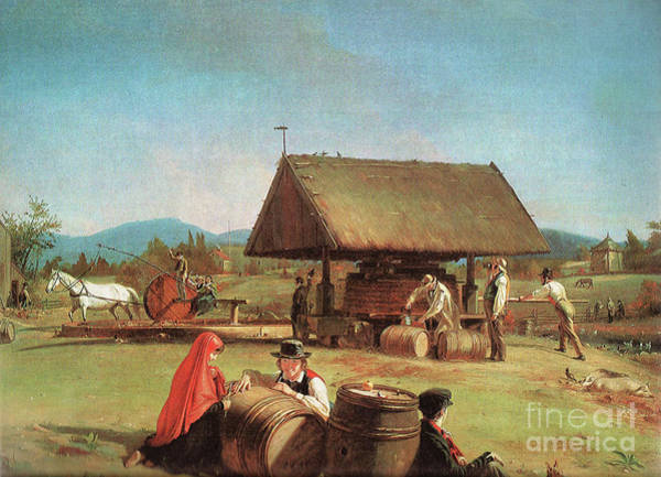 Wall Art - Mixed Media - Cider Making By William Sidney Mount 1841 by Zal Latzkovich