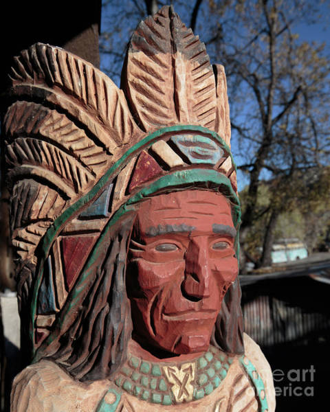 Photograph - Cigar Store Indian  by Edward Fielding