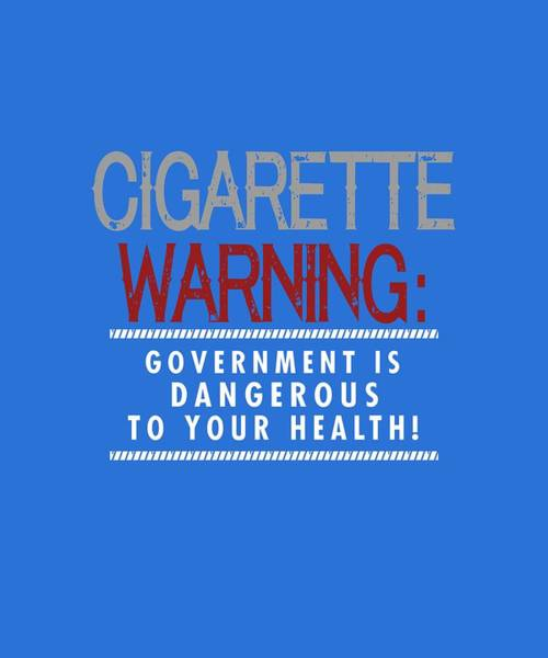 Digital Art - Cigarette Warning by Shopzify