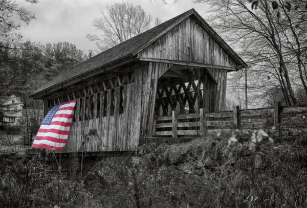 Photograph - Cilleyville Bog Covered Bridge by Jeff Folger