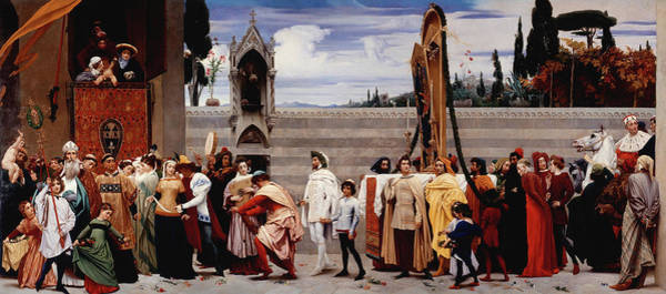 Wall Art - Painting - Cimabue's Celebrated Madonna by Frederic Leighton