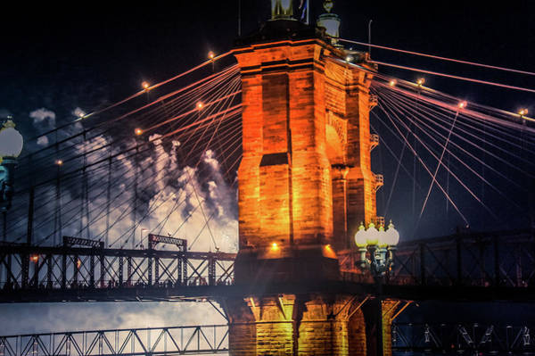 Wall Art - Photograph - Cincinnati Bridge, Ohio by Art Spectrum