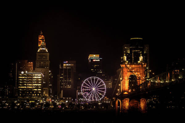Wall Art - Photograph - Cincinnati City At Night by Art Spectrum