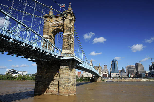 Ohio Photograph - Cincinnati, Ohio Skyline And Ohio River by Jumper
