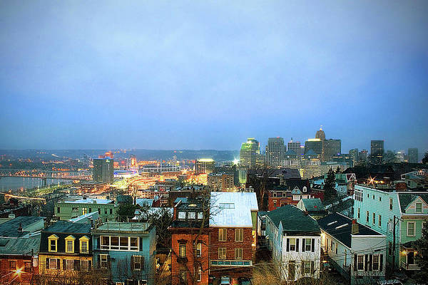 Keith Urban Wall Art - Photograph - Cincinnati Skyline by Keith R. Allen