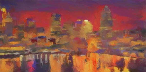 Wall Art - Painting - Cincinnati Watercolor Reflections by Dan Sproul