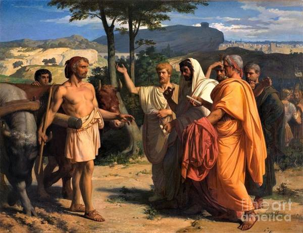 Wall Art - Painting - Cincinnatus And Deputies Of Senate by Pg Reproductions