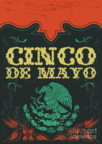 Wall Art - Digital Art - Cinco De Mayo - Mexican Holiday Vintage by Julio Aldana