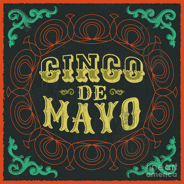 Wall Art - Digital Art - Cinco De Mayo - Vintage Mexican by Julio Aldana