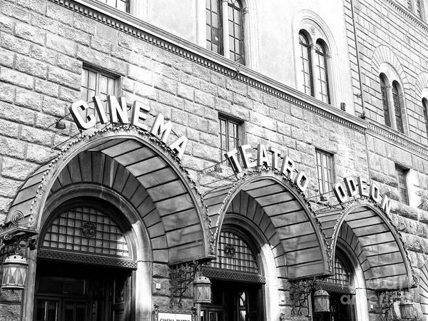 Photograph - Cinema Teatro Odeon Florence by John Rizzuto