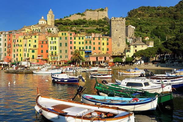 Rowboat Photograph - Cinque Terre - Porto Venere by Cornelia Doerr