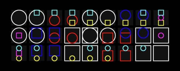 Circ-uare Alphabet Colour Art Print