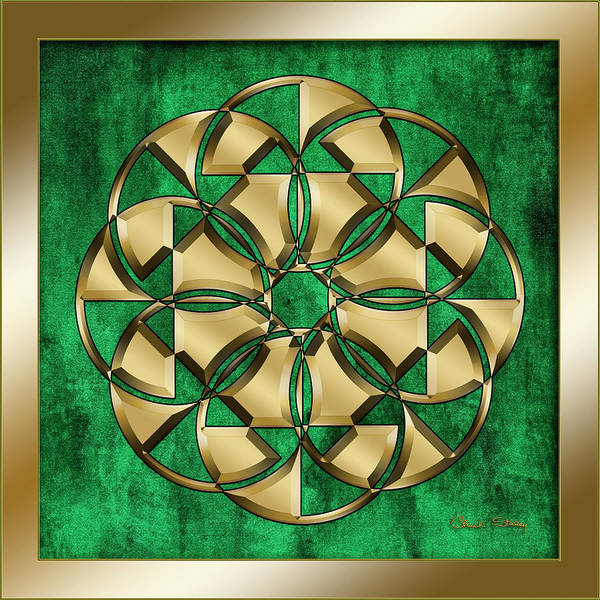 Digital Art - Circle 1 On Emerald by Chuck Staley