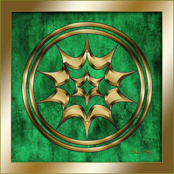 Digital Art - Circle 2 On Emerald by Chuck Staley