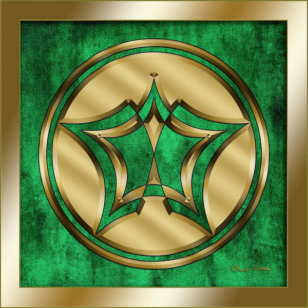 Digital Art - Circle 4 On Emerald by Chuck Staley